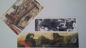 2 marque-pages et 1 carte postale